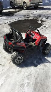 Jeep électrique rouge 2 places