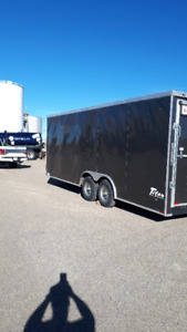 2016 20' Titan Cargo Trailer With 2' V nose Almost new