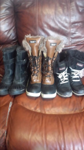 3 Pairs of size 7 women's winter boots.