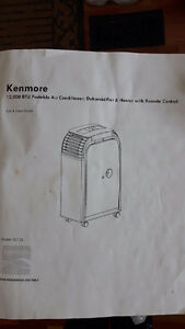 Kenmore Portable A/C, Heater and Dehumidifier with remote contro