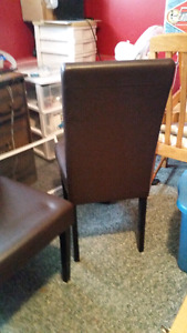 Two brown chairs 90$obo