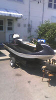 Scooter boat and 200cc Yamaha 2 stroke for trade or sale