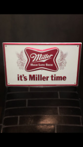 SOLD-MILLER HIGH LIFE ADVERTISING BEER SIGN $45