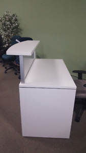 ***White Small Reception Desk***