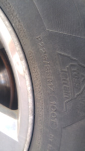 Wanted used Tires 225/65R17