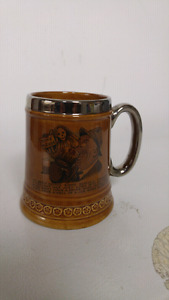 Vintage Lord Nelson Pottery England Beer Stein Mug for sale