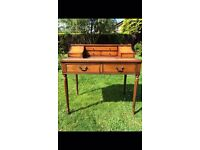 Antique writing desk/bureau. Storage drawers. Tongue and groove craftsmanship