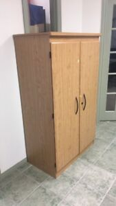 2-Door, Light Wood Wardrobe