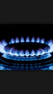 Gas line installation for stove available