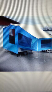 Pull behind tent trailer