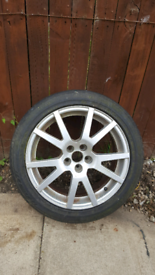 """17"""" Alloy wheel with continental tyre 205/50/17"""