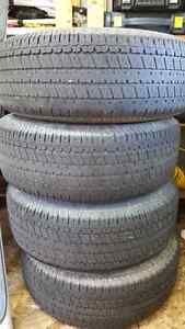 UNIROYAL 4 TIRES & RIMS 265/75/R15