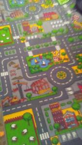 Tapis de jeu pour petites autos et / où de village Lego