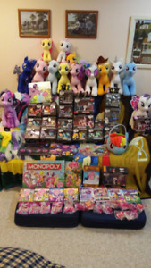 HUGE My Little Pony Collection- Plushes, Figures, DVDs and more