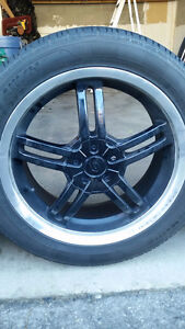 17 INCH SACCHI SUMMER TIRES AND WHEELS.