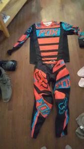 Fox racing moto suit and thor equipment