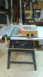"Table Saw, 10"" MasterCraft , 15A, laser sight, stand"