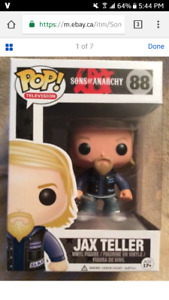Funko pop - sons of anarchy - jax teller (vaulted and rare)