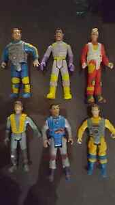 6 Vintage 1988 Ghost Buster Action Figures