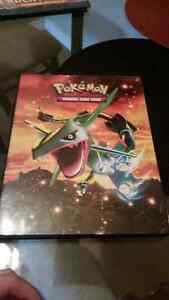 Collectable pokemon binder and cards