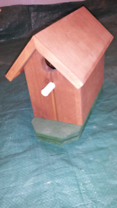 Hand made wooden birdhouse