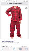 Looking for 3T plaid pajamas