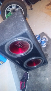 "2 12"" subs with amp."