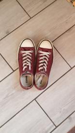 Leather burgundy converse UK Size 5