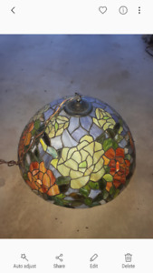 Tiffany style stained glass hanging glass light