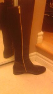 Michael Kors genuine leather black boots