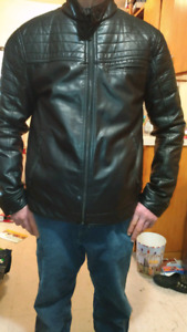 Pointe zero, mens leather jacket, never worn outside home
