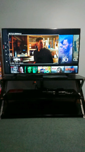 "55"" sharp led 4k smart tv 120GHZ with stand"