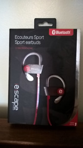 Escape Sport Earbuds (brand new, unopened)