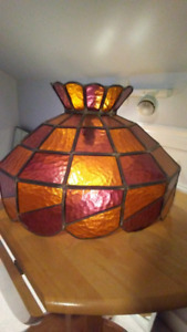 Vintage Antique Stained Glass Shade
