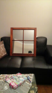 Square Wood Mirror