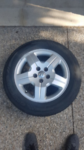 Dodge 17 inch Rims with 215/60R/17 Tires