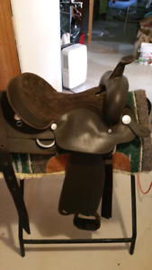 Wintec saddle, briddle etc, stand and pad