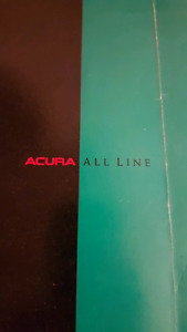 ACURA pamphlet from the launch of Acura