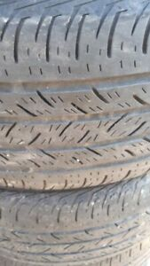 PAIR OF R17 225-65 SUMMER TIRES