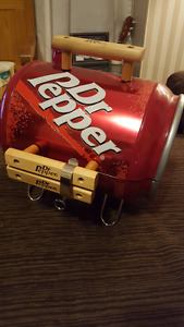 Dr Pepper portable charcoal grill