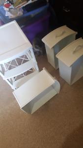 White drawers