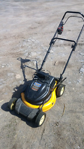 Cub Cadet electric Battery powered lawnmower.