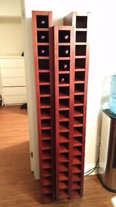 Dark Wood 49-Bottle Wine Rack