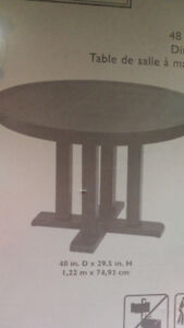 BRAND NEW  -  Never Opened -  Allen & Roth Round Outdoor Table