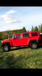 Red Hummer H3 for Sale
