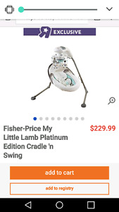 **LIKE NEW** Fisher price platinum cradle n swing