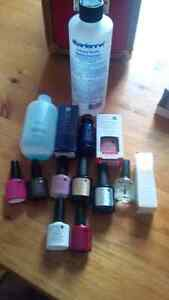 CND nail polishes, uv lamp and accessories