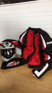 Men's motorcycle helmet and jacket