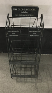 GLOBE AND MAIL NEWSPAPER STAND-MAN CAVE ADVERTISING COLLECTIBLE