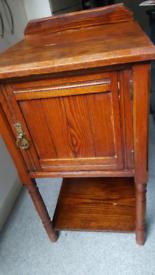 VINTAGE FURNITURE Original 60s Bedside SIDE Table SOLID WOOD